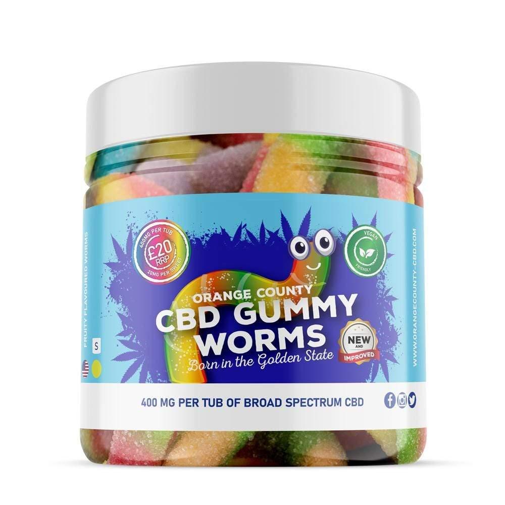 Orange County CBD Gummy Worms 1200mg