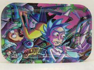 Medium tray Rick and Morty negative