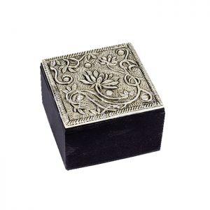 "Lotus Design Trinket Box 7""x 5"" x 2.5"""