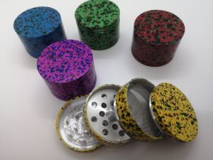 Splattered Aluminium Grinder 4pt 56mm