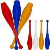 Set Of 3 Juggling Clubs Plastic