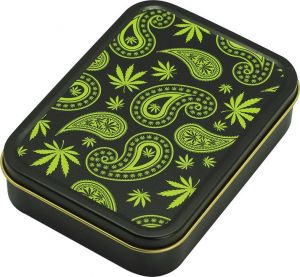 Square Box Paisley Weed Design
