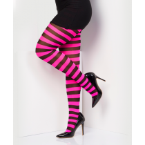 Pink and Black Stripey Tights