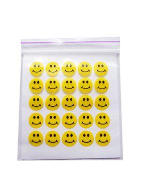 4cm x 4cm Baggies Smileys
