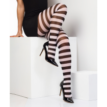 Black and White Stripey Tights
